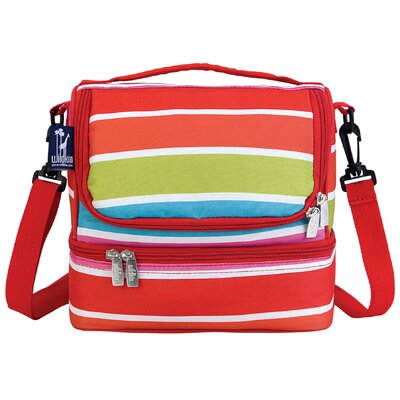 Wildkin Ashley Bright Stripes Double Decker Lunch Bag