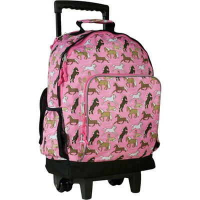 Wildkin Horses in Pink High Roller Rolling Backpack