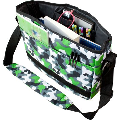 Wildkin Green Camo Kickstart Messenger Bag