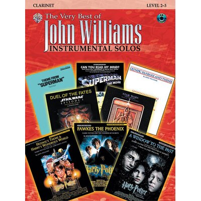 Alfred Publishing Company The Very Best of John Williams Instrumental Solos, Clarinet Edition