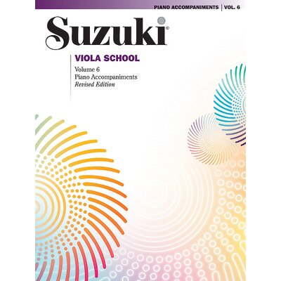 Alfred Publishing Company Suzuki Viola School Piano Acc., Volume 6