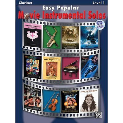 Alfred Publishing Company Easy Popular Movie Instrumental Solos, Clarinet