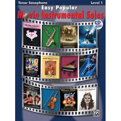 Alfred Publishing Company Easy Popular Movie Instrumental Solos, Tenor Sax