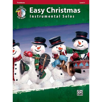 Alfred Publishing Company Easy Christmas Instrumental Solos, Level 1: Trombone (Book and CD)
