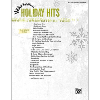 Alfred Publishing Company Value Song Books: Holiday Hits