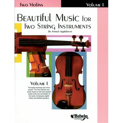 Alfred Publishing Company Beautiful Music for Two String Instruments - Book I
