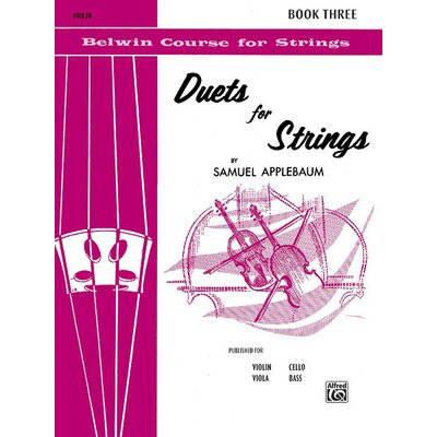 Alfred Publishing Company Duets for Strings, Book III