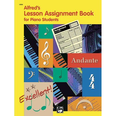 Alfred Publishing Company Lesson Assignment Book for Piano Students