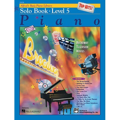 Alfred Publishing Company Basic Piano Course: Top Hits! Solo Book 5
