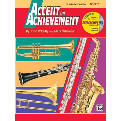 Alfred Publishing Company Accent on Achievement, Book 2: E-Flat Alto Saxophone (Book and CD)