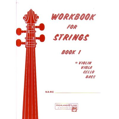 Alfred Publishing Company Workbook for Strings: Book 1