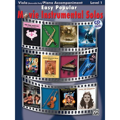 Alfred Publishing Company Easy Popular Movie Instrumental Solos for Strings