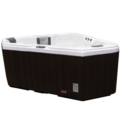 Coleman 2 Person 28-Jet Triangle Spa with Backlit LED Waterfall