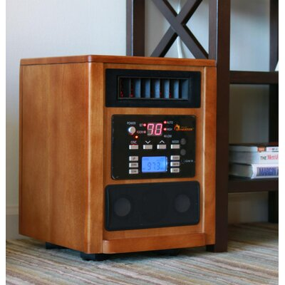 Dr. Infrared Heater 1,500 Watt Infrared Cabinet Space Heater with Adjustable Thermostat