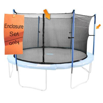 15' 41 Piece Round Trampoline Enclosure Set for 4/8 W Legs
