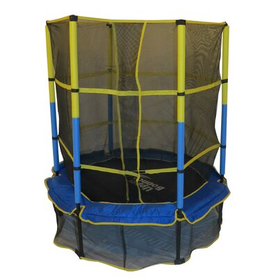 "Upper Bounce 55"" Kids Trampoline with Enclosure"