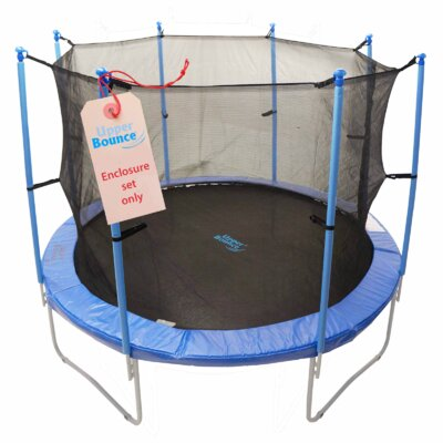 13' 41 Piece Round Trampoline Enclosure Set for 4/8 W Legs