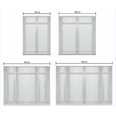 Arte-M Style Sliding Door Wardrobe with Glass
