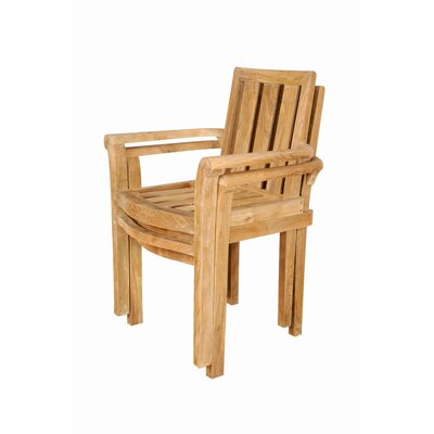 Anderson Teak Classic Stackable Dining Arm Chairs (Set of 4)