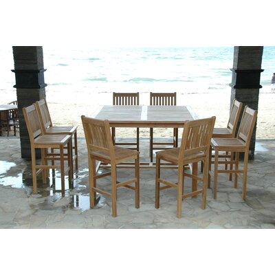 Anderson Teak Windsor 9 Piece Bar Height Dining Set