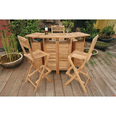 Anderson Teak Altavista 5 Piece Bar Height Dining Set