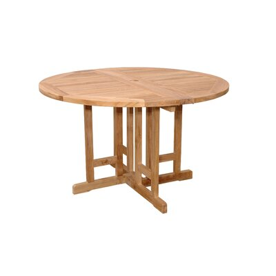 Anderson Teak Bahama Round Butterfly Folding Dining Table