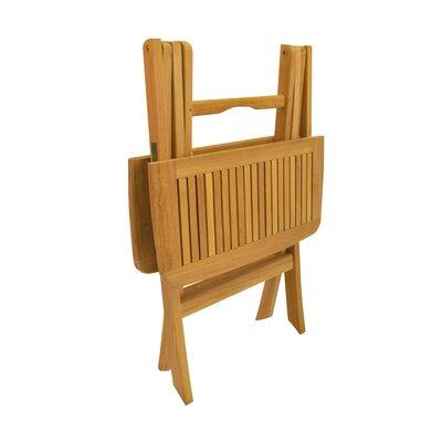 "Anderson Teak Windsor 24"" Square Picnic Folding Table"
