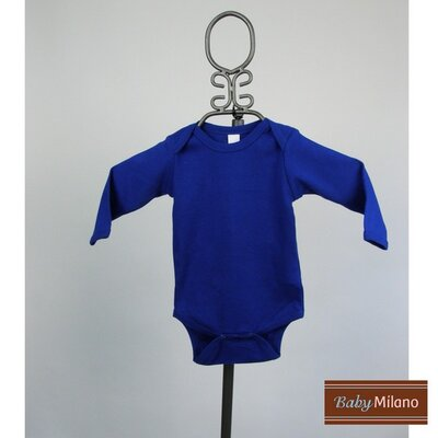 Baby Milano Long Sleeve Infant Bodysuit in Royal Blue