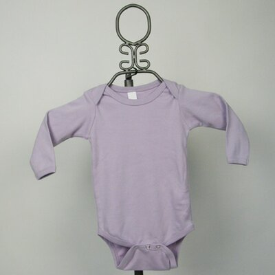 Long Sleeve Infant Bodysuit in Lavender