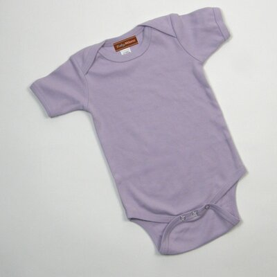 Baby Milano Short Sleeve Infant Bodysuit in Lavender