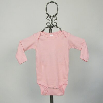 Baby Milano Long Sleeve Infant Bodysuit in Light Pink