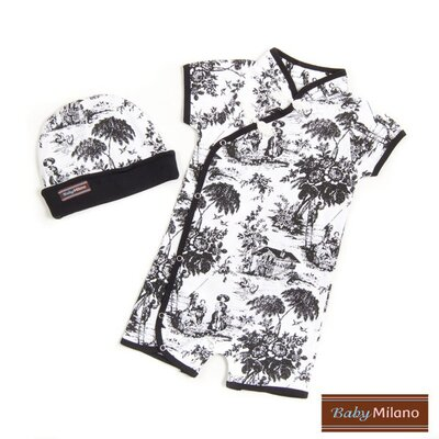 Baby Milano 2 Piece Gift Set in Black Toile