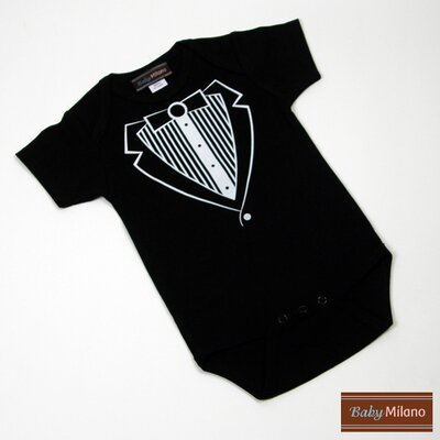 Baby Milano Infant Bodysuit in Black Tuxedo