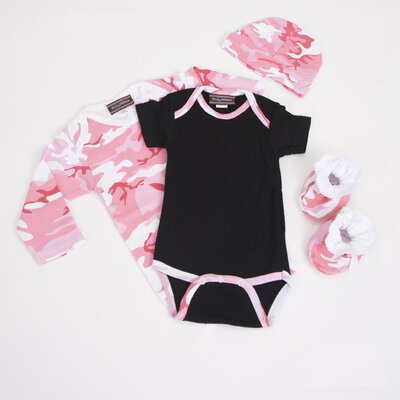 Baby Clothes Gift Set in Pink Camouflage