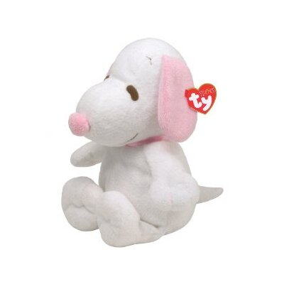 TY Beanie Babies Snoopy with Pink Ears in White
