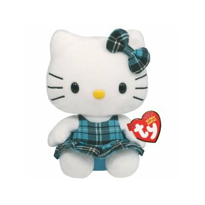 TY Beanie Babies Hello Kitty in Tartan Dress in Blue