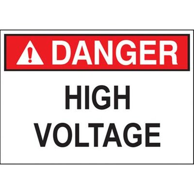Morris Products 'Danger High Voltage' (Bilingual Sign) Safety Signs