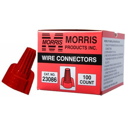 Morris Products Twisted Wing Connectors in Red (Boxed 100 Pack)