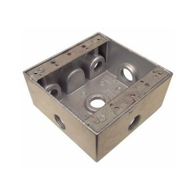"Morris Products Weatherproof Boxes in Gray with 6"" Outlet Holes"