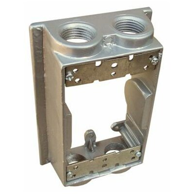 "Morris Products Weatherproof One Gang Flanged Box Extension Adapter in Grey with 4"" Outlet Holes"