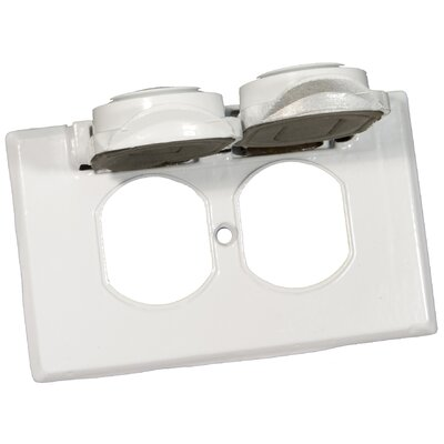 Morris Products One Gang Weatherproof Covers in White for Horizontal Duplex Receptacle