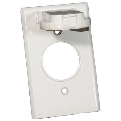 Morris Products One Gang Weatherproof Covers in White for Vertical Single Receptacle