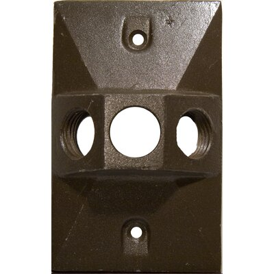 Morris Products Three Hole Rectangular Lamp Holder One Gang Weatherproof Covers