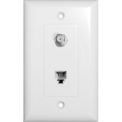 Morris Products Decorator Combination Phone / CATV Jack in White