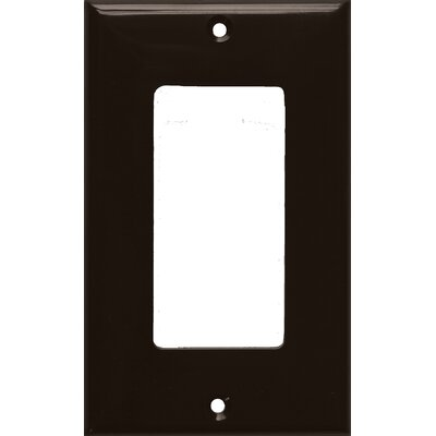 Morris Products 1 Gang Decorator / GFCI Lexan Wall Plates in Brown
