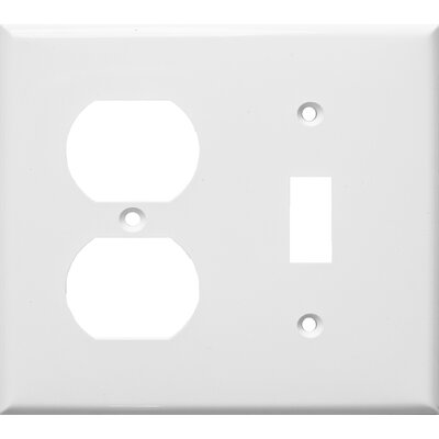 Morris Products 2 Gang 1 Duplex 1 Toggle Lexan Wall Plates in White