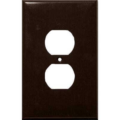 Morris Products 1 Gang Oversize Duplex Receptacle Lexan Wall Plates in Brown