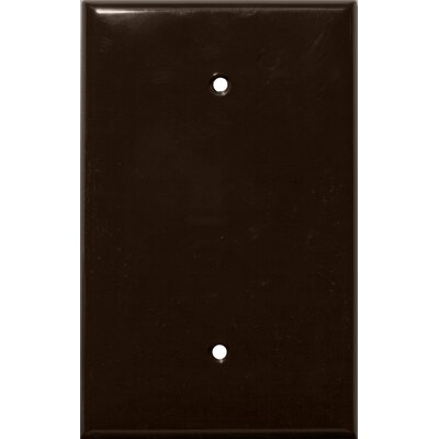 Morris Products 1 Gang Oversize Blank Lexan Wall Plates in Brown