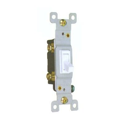 Morris Products 15A-120/277V Toggle Switch in White