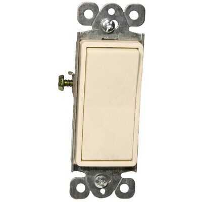 Morris Products 15A-120/277V Single Pole Decorator Switches in Almond